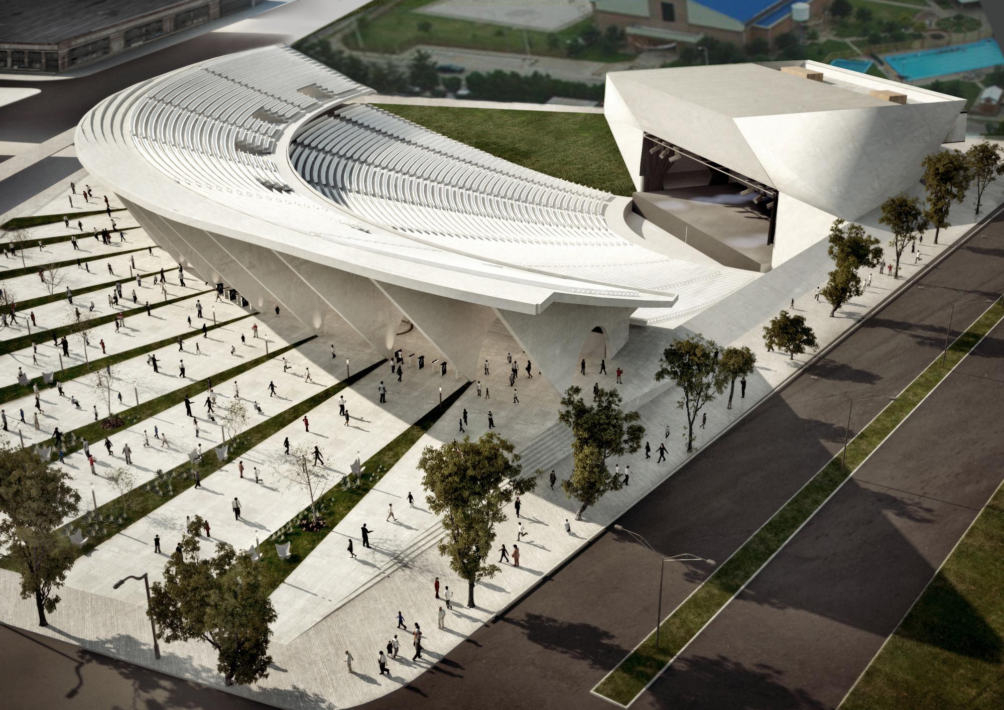 Tercer lugar concurso ampliaci n anfiteatro cocomarola for Arquitectura de proyectos