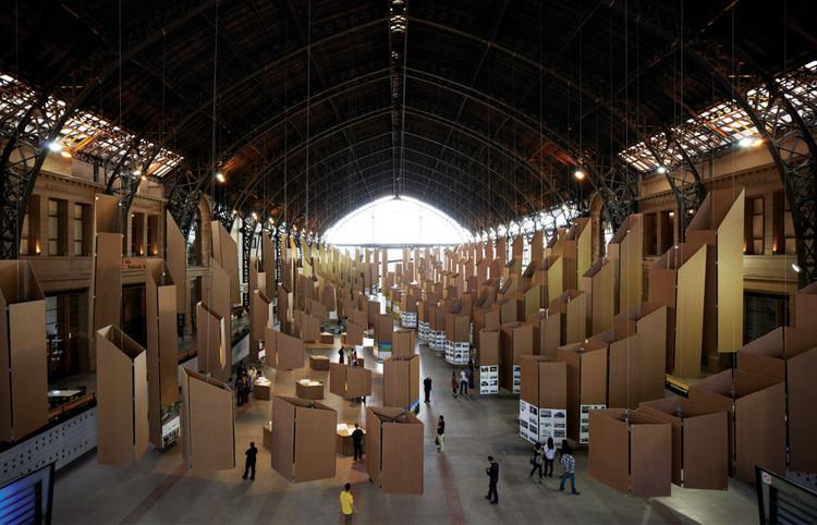 Montaje XVIII Bienal de Arquitectura por Cristóbal Palma, © Cristóbal Palma