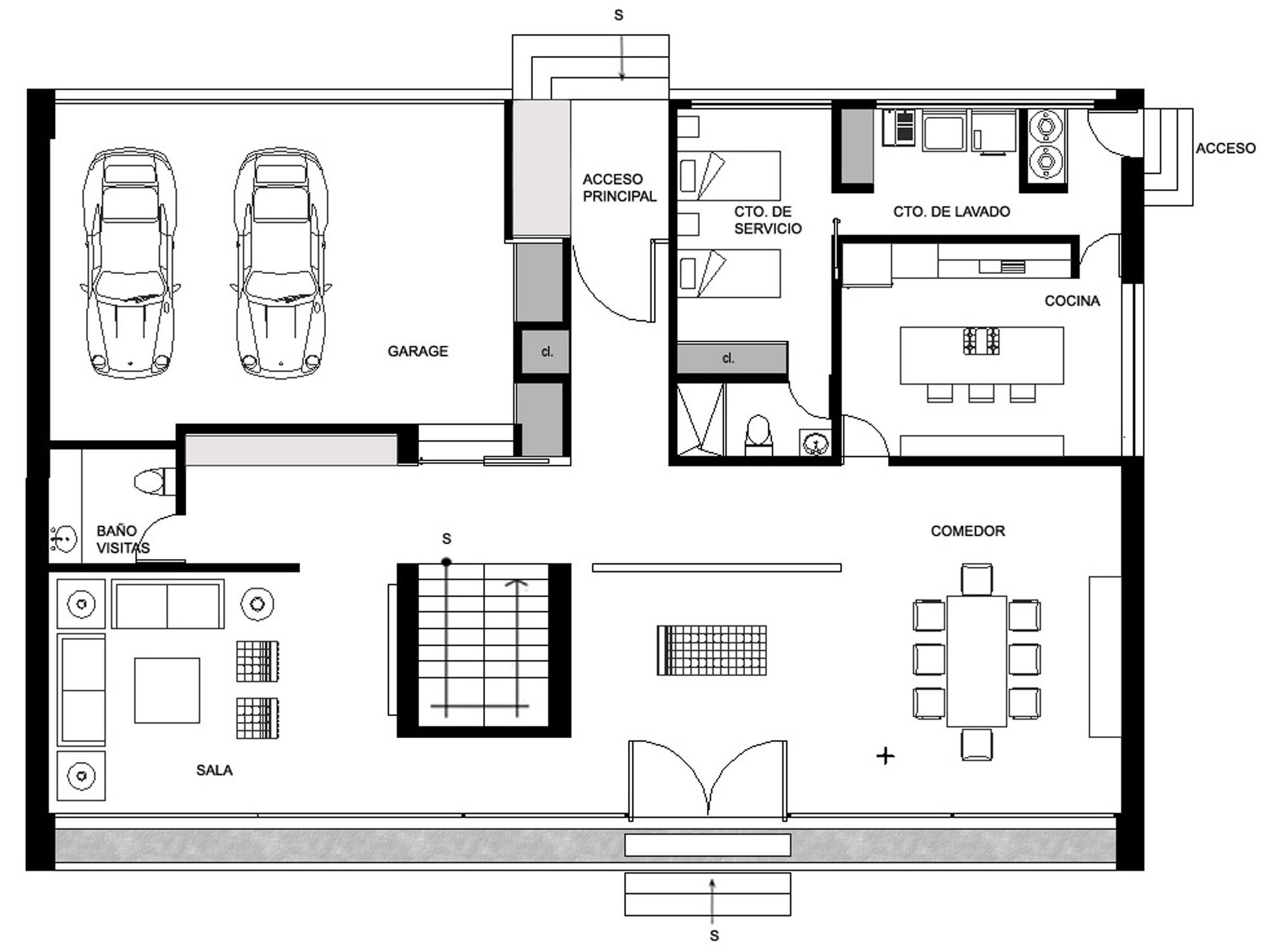 Gallery of gp house bitar arquitectos 14 Ground floor house plan