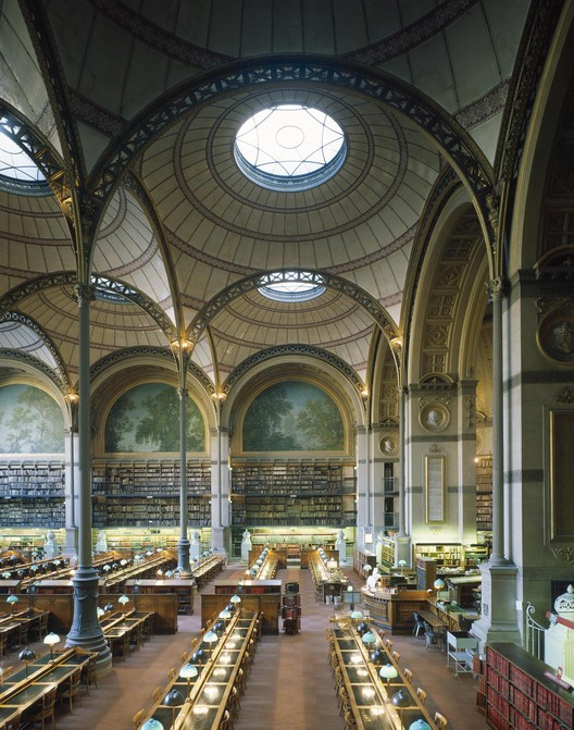 Henri Labrouste (French, 1801-1875). Bibliothèque nationale, Paris, 1854-1875. View of the reading room. © Georges Fessy