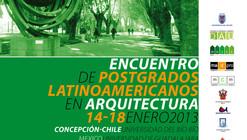 Encuentro de Postgrados Latinoamericanos en Arquitectura