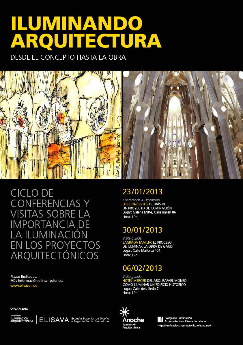 Ciclo de conferencias y visitas «Iluminando arquitectura: desde el concepto hasta la obra»