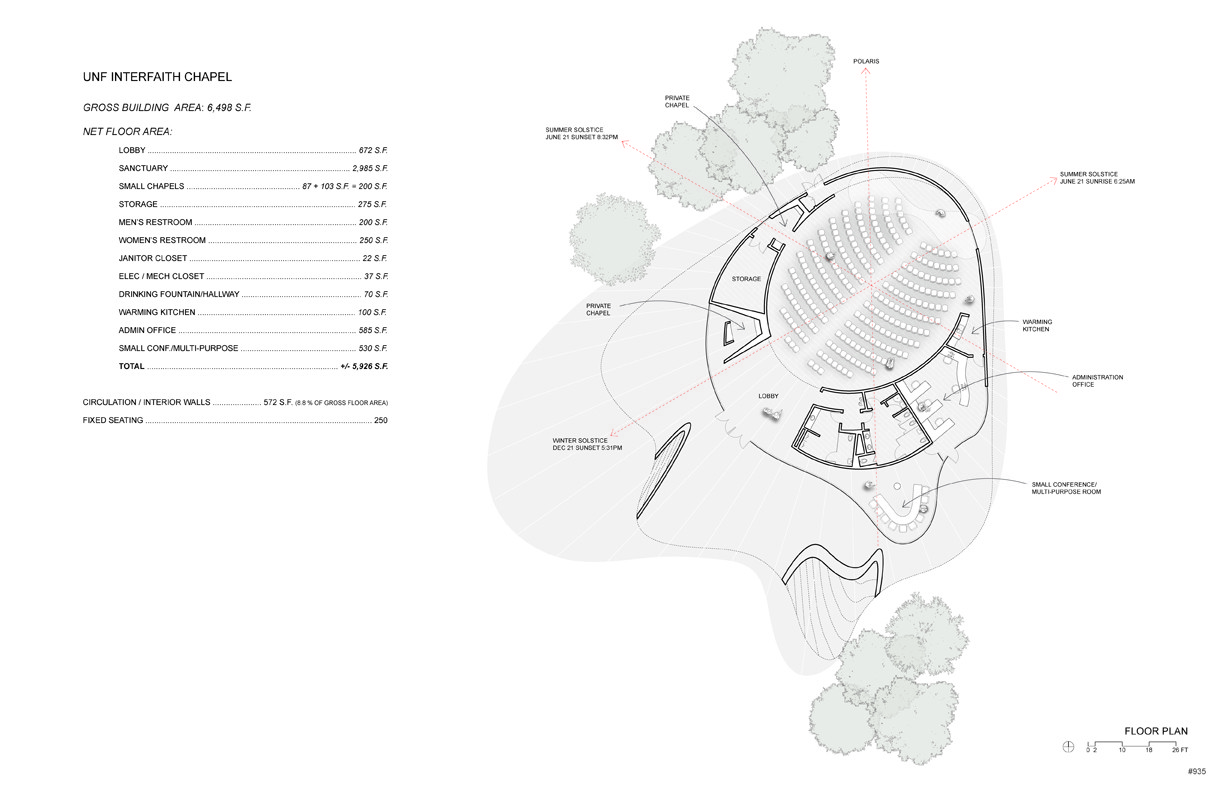 Gallery of brooks scarpa design interfaith chapel in for Small chapel floor plans