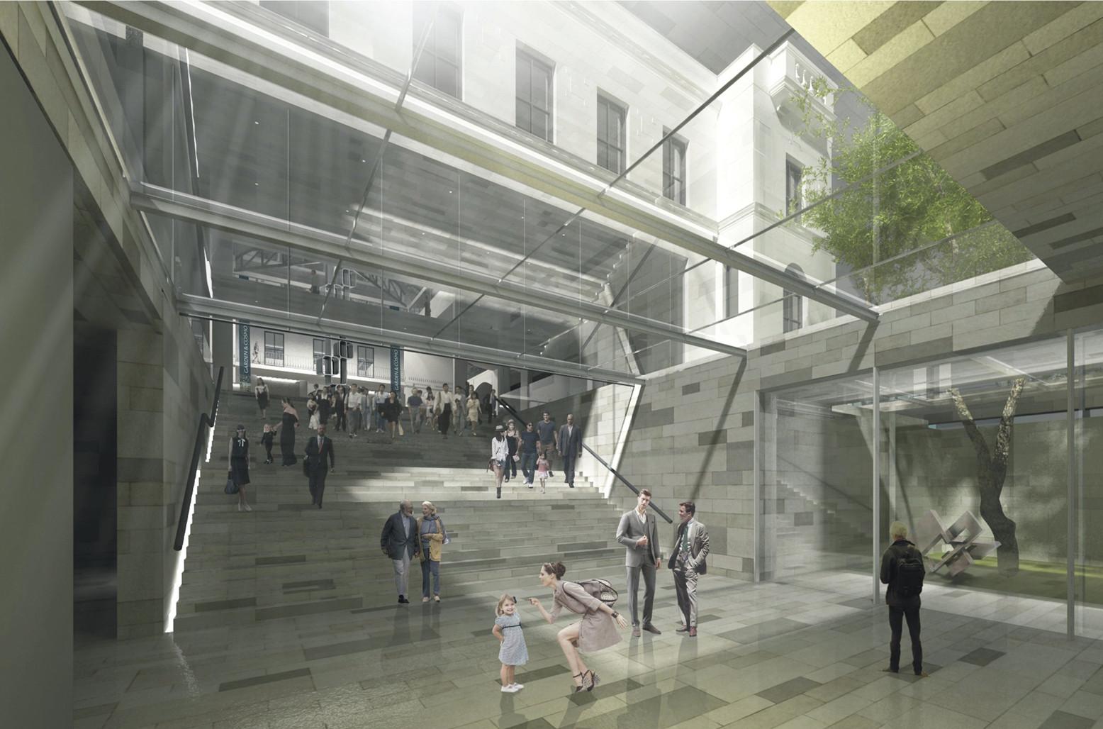 Ganador centro de convenciones y exposiciones antiguo for Interior 1 arquitectura