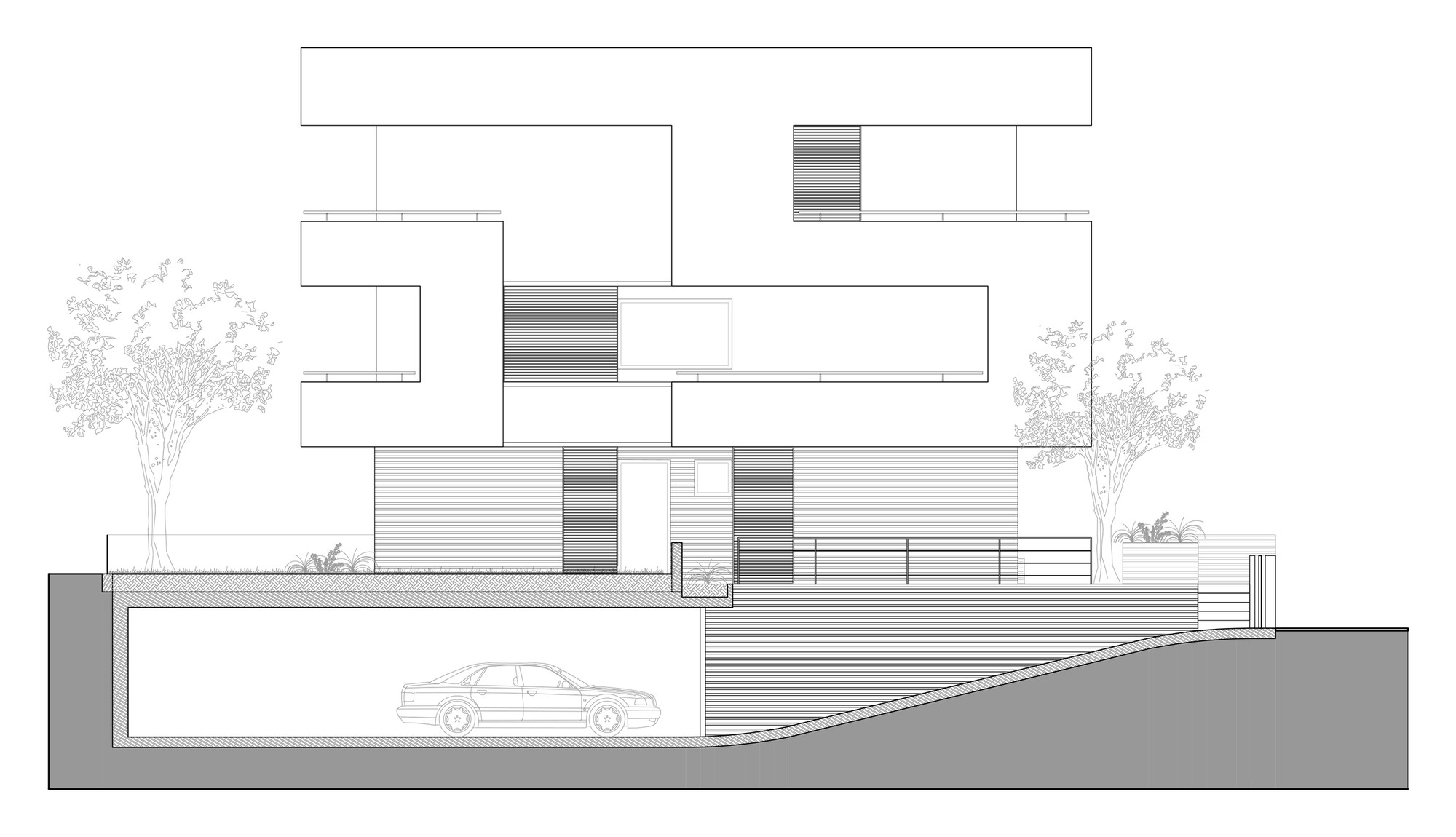 Rgr house archinow east elevation