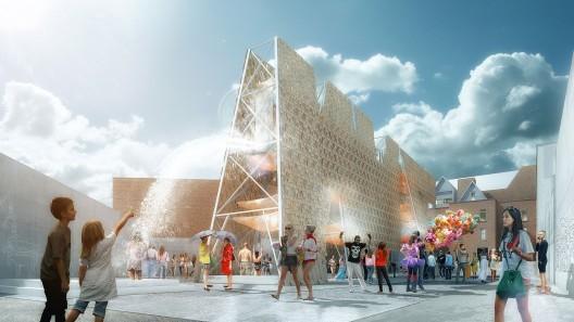 CODA gana el Young Architects Program del MoMA PS1 con 'Party Wall' Desechos de Skateboard, Cortesia de MoMA
