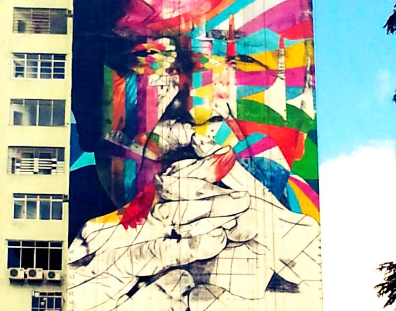 Oscar Niemeyer será homenajeado en el aniversario de São Paulo, © Eduardo Kobra via Catraca Livre