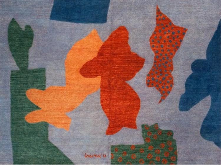 Gehry, Graves, Hadid, McCurry, Stern e Tigerman desenham tapetes para ajudar às mulheres do Afganistão, Cortesía de Coalesse.com
