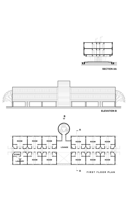 Elevation, Section & Plan