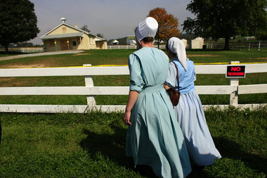 The Amish school where the Nickel Mines shooting took place in 2006. The school was torn down and later rebuilt. Image via Patriot News 2006.