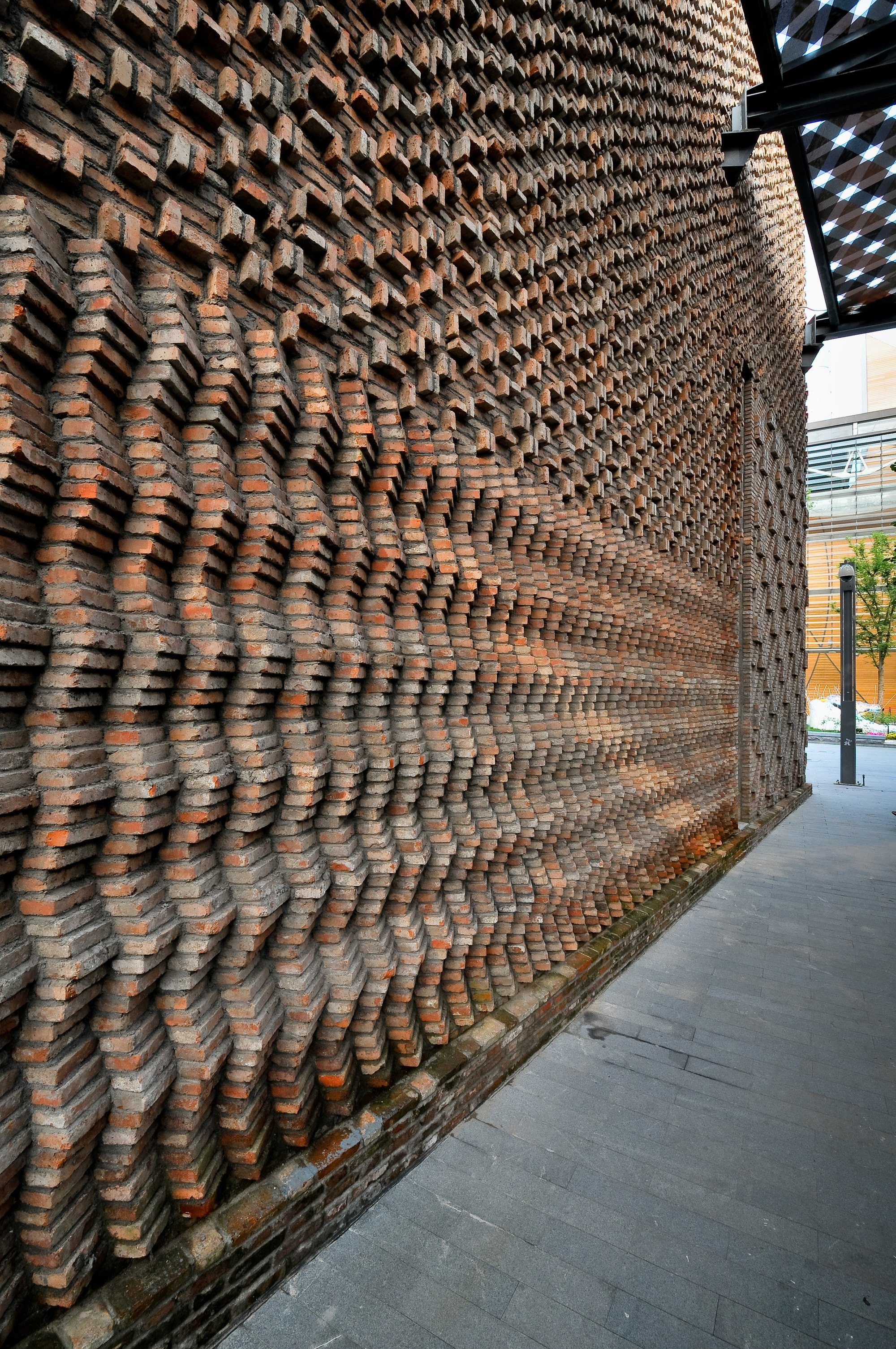 Gallery of pavilion 4 hma architects designers 14 for Exterior brick design patterns
