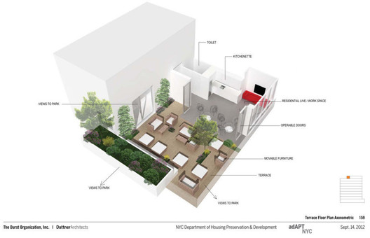 adAPT NYC Finalist Studio House / Durst Organization and Dattner Architects; Images via CURBED