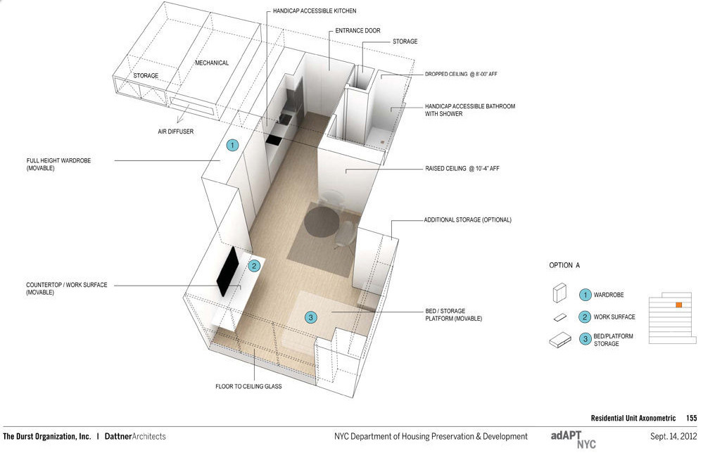Gallery of adapt nyc competition announces micro apartment for Apartment design competition