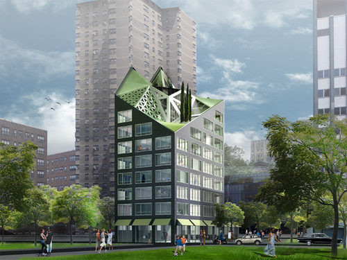adAPT NYC Finalist Max / Properties & Bronx Pro Group LLC, HWKN, and James McCullar Architects; Images via CURBED