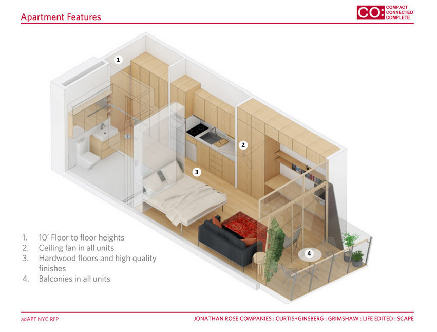 Adapt Nyc Compeion Announces Micro Apartment Winner And Finalists