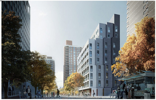 adAPT NYC Winner / Monadnock Development LLC, Actors Fund Housing Development Corporation, and nARCHITECTS; Images via CURBED