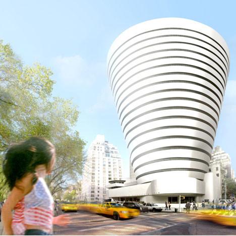 chocolate inversión Galleta  Idean concepto de expansión para Museo Guggenheim de Nueva York    Plataforma Arquitectura