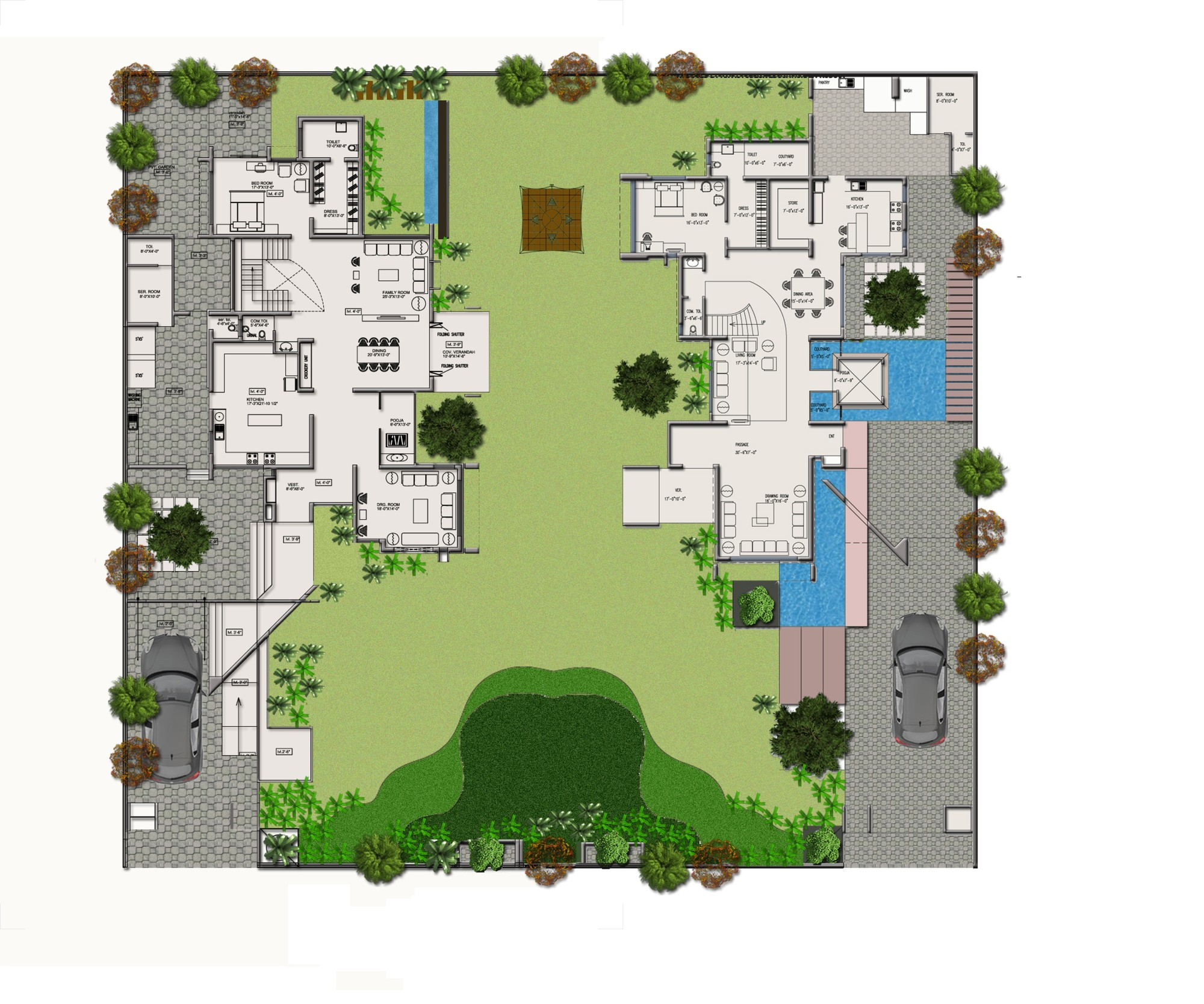 Gallery of dual house vpa architects 36 for Arquitectura de casas modernas planos