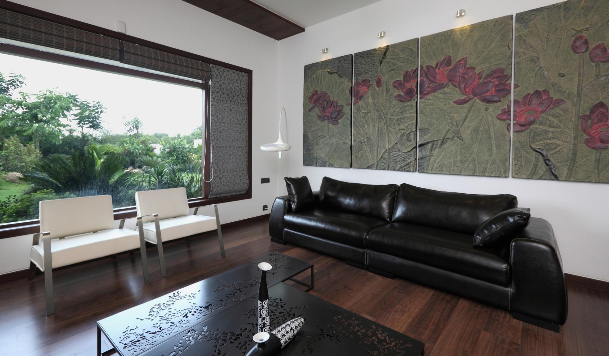 Dark Grey Living Room Wood Floor
