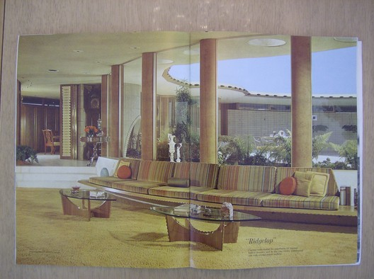 Image of Ridgetop scanned from the Architectural Digest, mid-1960s. Via Charlotte Nielsen