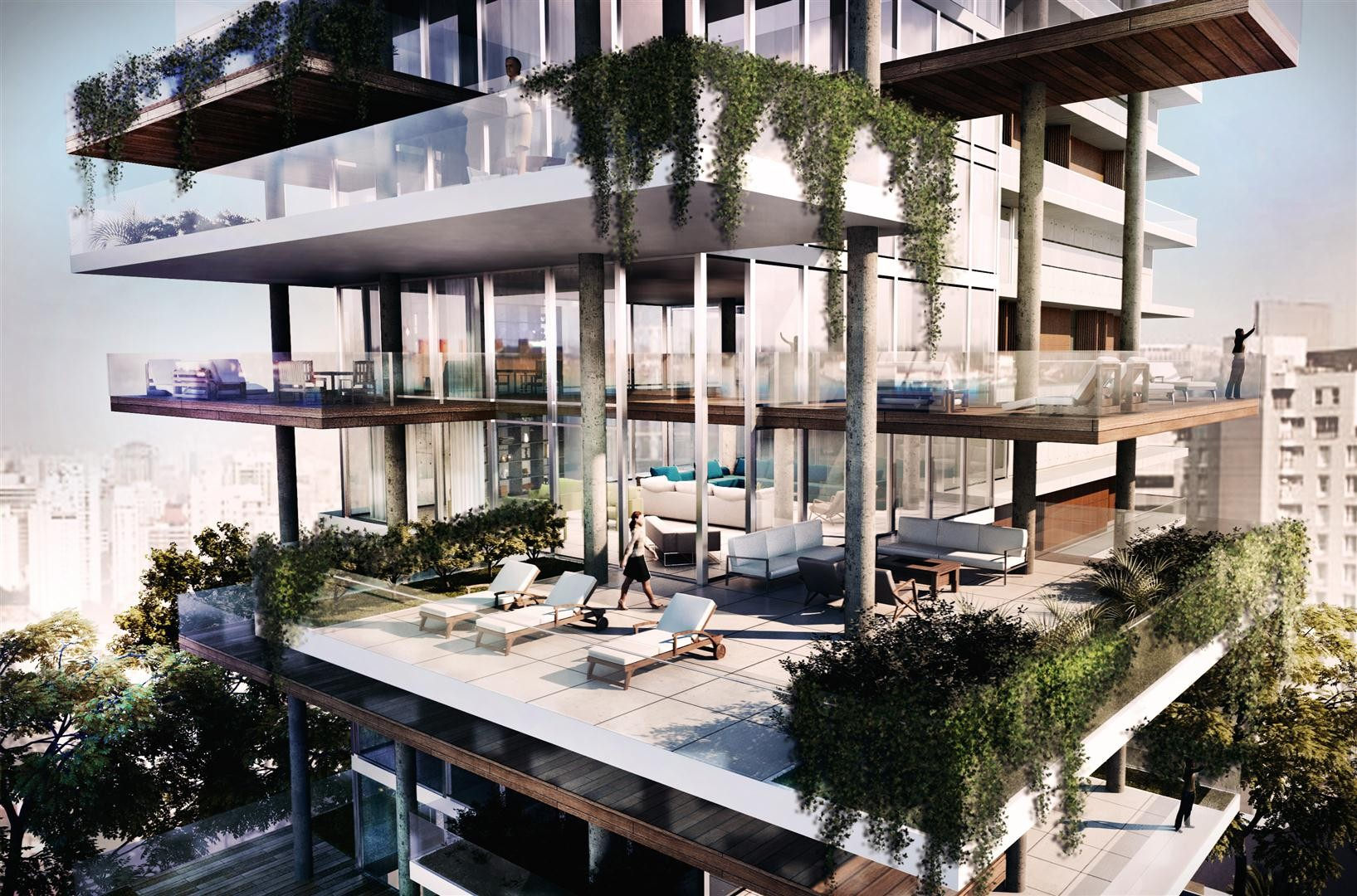 Galer a de edificio itaim fgmf arquitetos 5 for Apartamentos con piscina en alcoceber