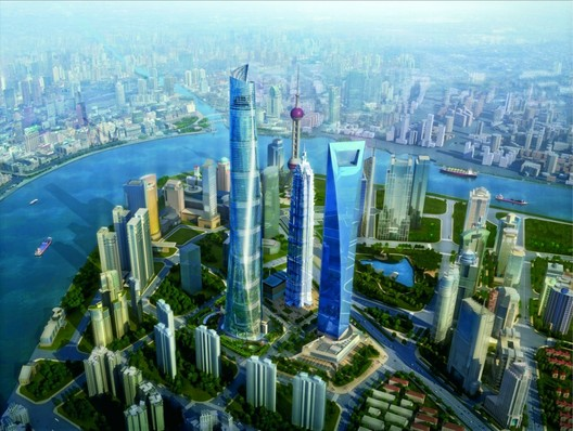 Rendering for the Shanghai Tower, by Gensler. Gensler was the only firm to rank in the Top 5 largest firms and the Top 5 Most Admired firms. Image courtesy of Gensler.