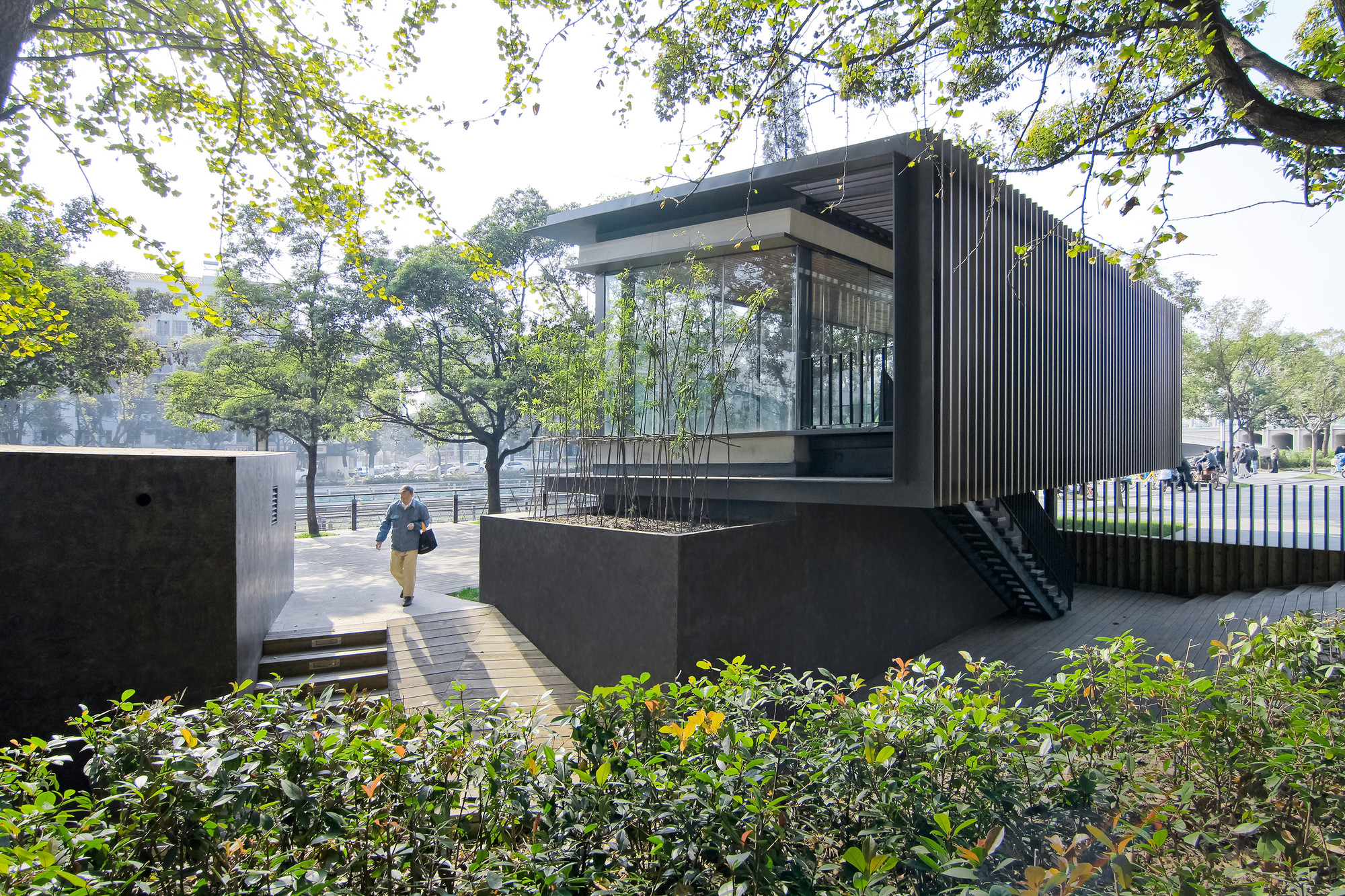 gallery of riverside park pavilion vector architects 9. Black Bedroom Furniture Sets. Home Design Ideas