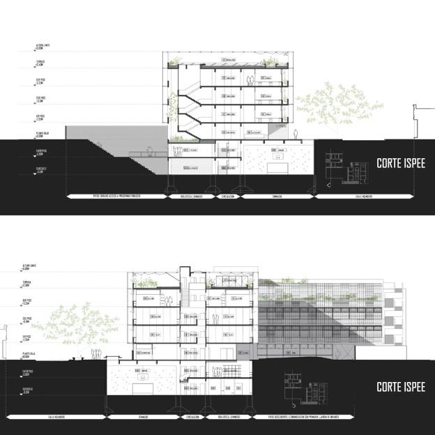 Galer a de segundo lugar concurso hacia una nueva for Arquitectura nota de corte