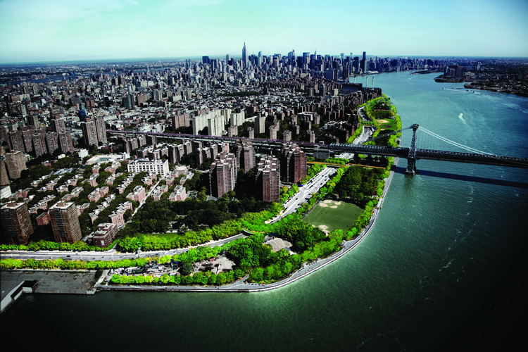 East River Blueway Plan / WXY Studio: New York City's Plan for Flood Barrier Along East River, East River Blueway Plan / WXY Studio