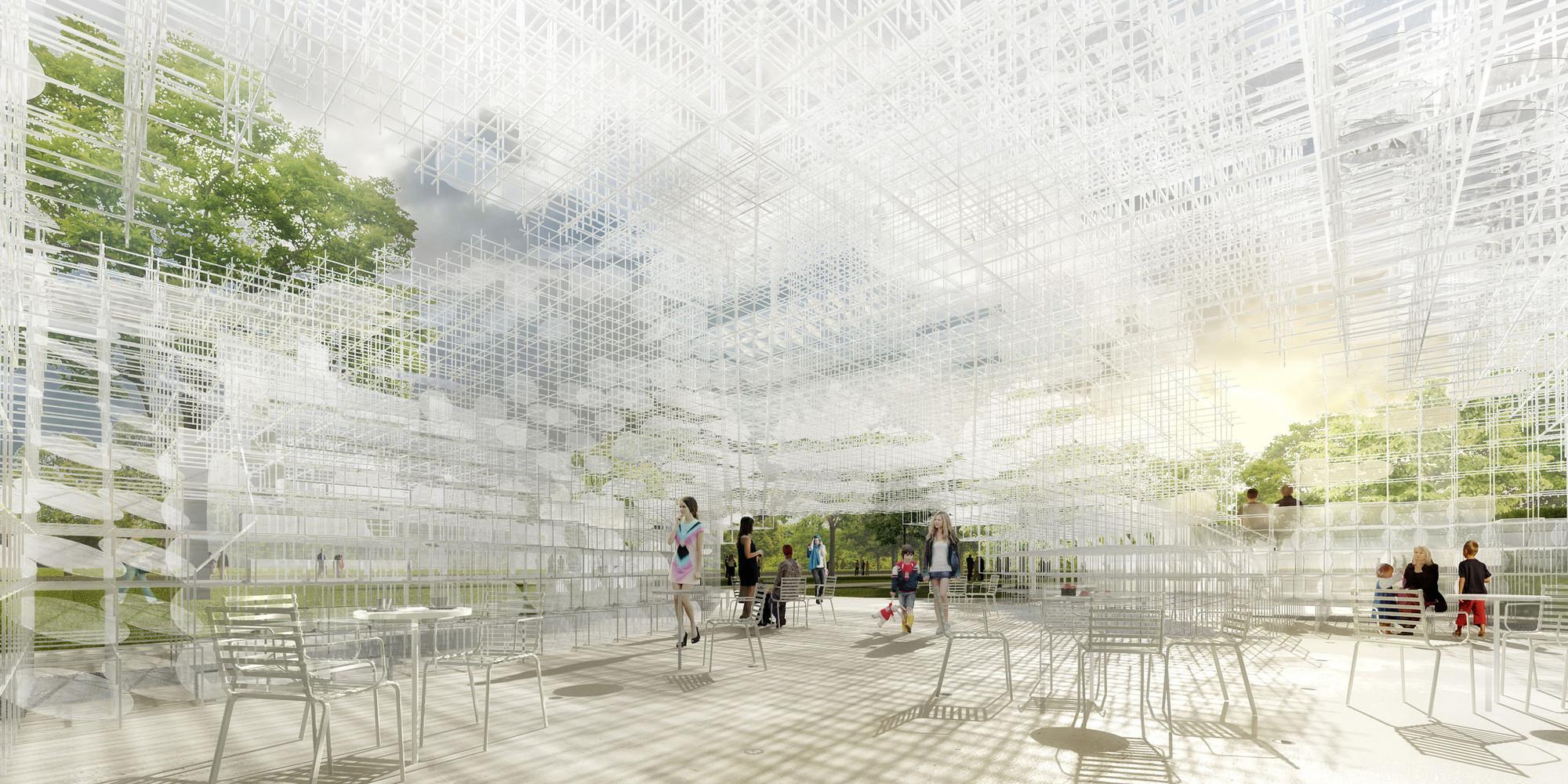 Sou Fujimoto diseñará el Serpentine Gallery Pavilion 2013, Serpentine Gallery Pavilion 2013 Diseñada por Sou Fujimoto Interior CGI