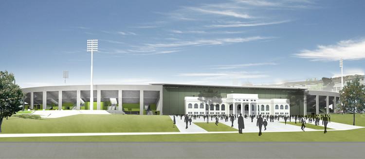 En Construcción Noticias: Mejoramiento y Ampliación Estadio Elías Figueroa, Cortesía de IND