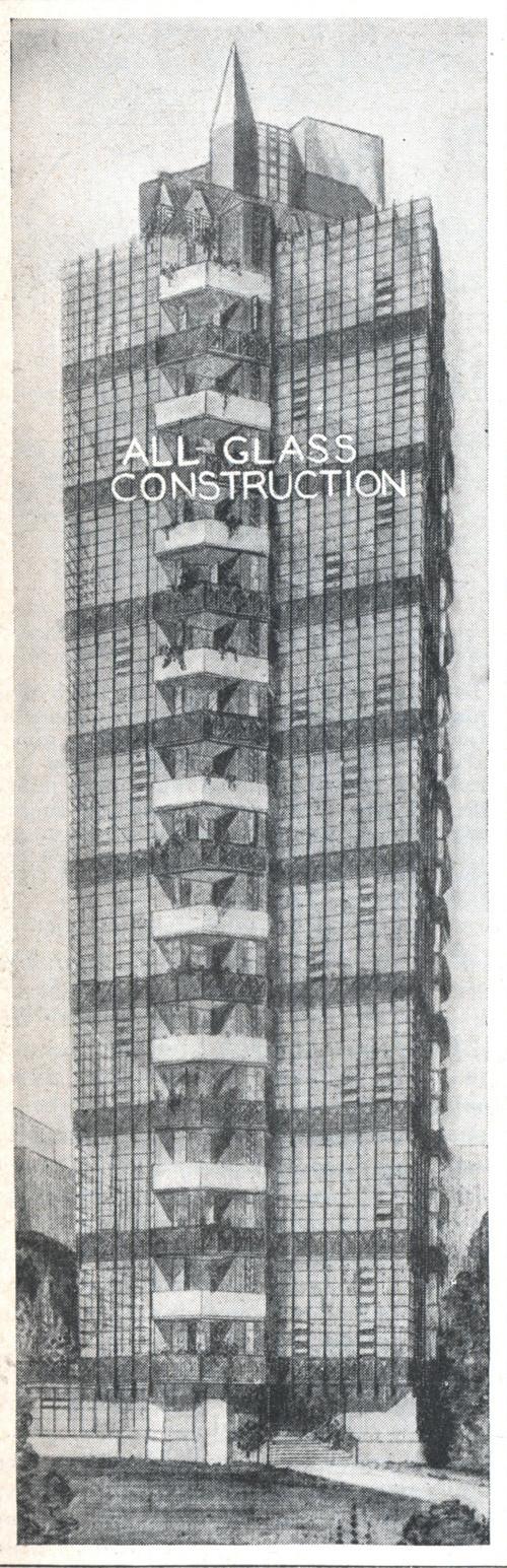Torres envidraçadas de 1930 projetadas por Frank Lloyd Wright em East Village, Manhattan