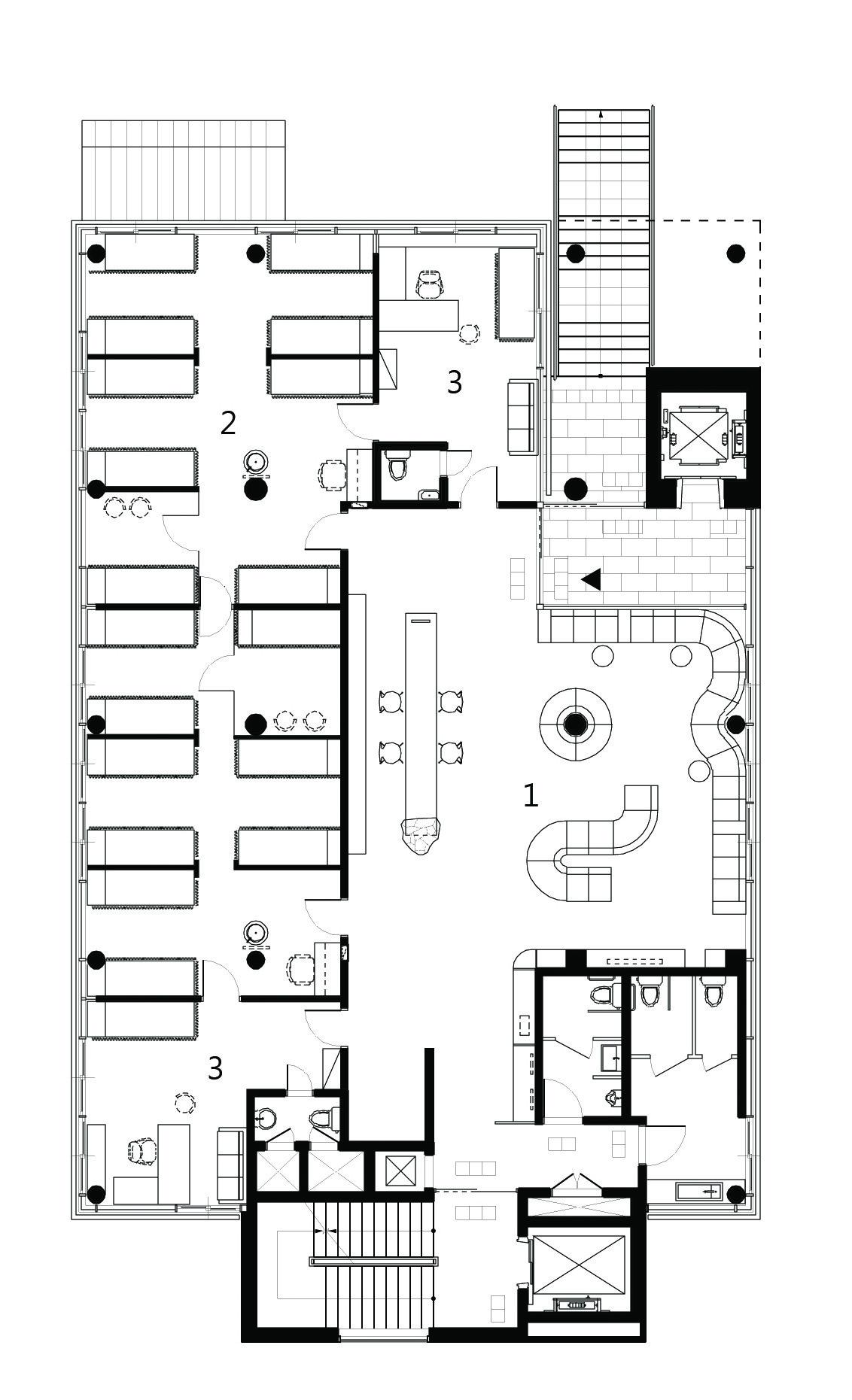 511dcb21b3fc4bd9a2000393 Choonwondang Oriental Clinic Museum Doojin Hwang Architects 2nd Floor Plan on Chiropractic Office Layout Design