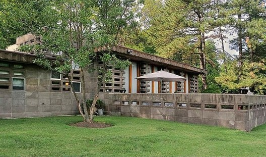 En venta Casa Tonkens de Frank Lloyd Wright, Cortesia de Zillow Blog