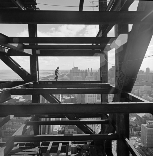 John Hancock Building, Skidmore, Owings & Merrill, Chicago, IL, 1970 Gelatin Silver Print © Ezra Stoller, Courtesy Yossi Milo Gallery, New York