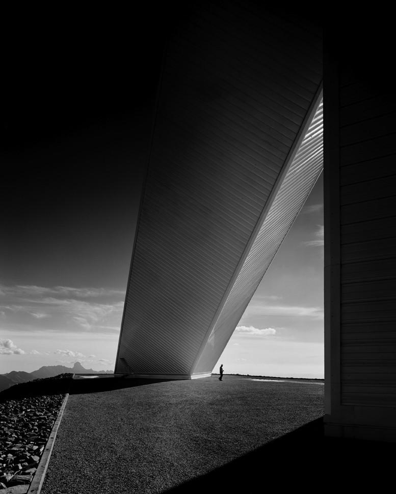 Ezra Stoller: Beyond Architecture, McMath Solar Telescope, Skidmore, Owings & Merrill, Kitt Peak, AZ, 1962 Gelatin Silver Print © Ezra Stoller, Courtesy Yossi Milo Gallery, New York