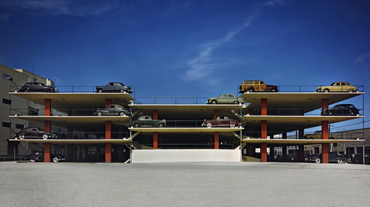 Miami Parking Garage, Robert Law Weed and Associates, Miami FL, 1949 Digital C-Print © Ezra Stoller, Courtesy Yossi Milo Gallery, New York