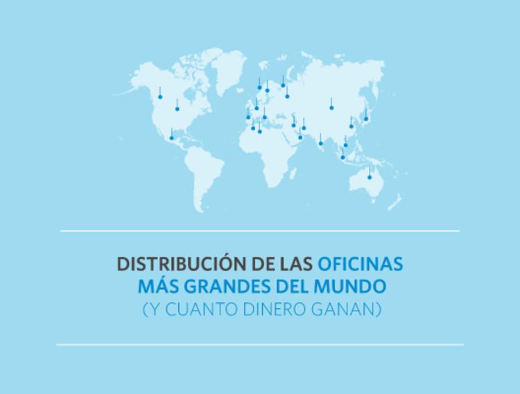 Las 100 oficinas de arquitectura m s grandes del mundo for Distribucion de oficinas
