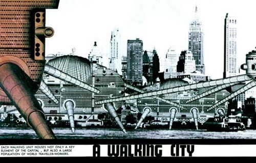 'Walking City' / Ron Herron via Surface to Air and Archigram Archival Project