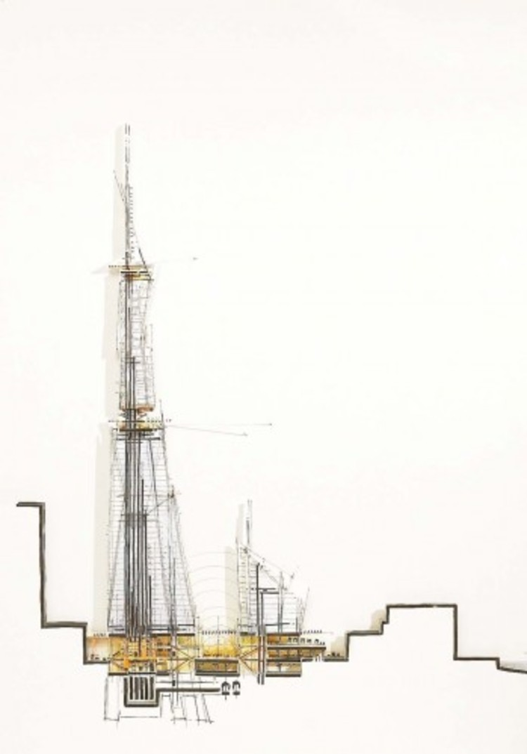 Renzo Piano Talks Architecture and Discusses 'The Shard' with BBC News, Bas-relief © Renzo Piano Building Workshop