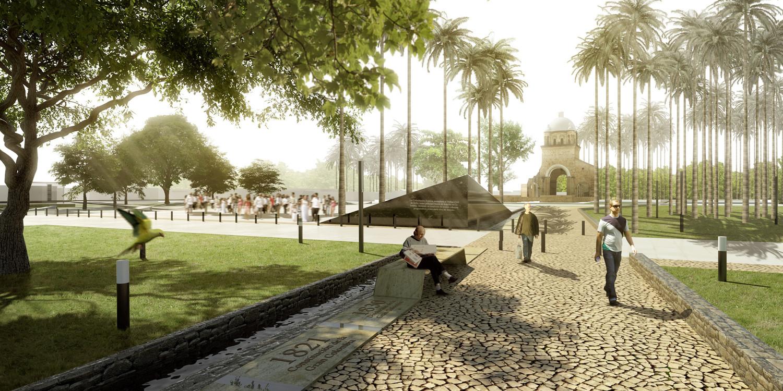 Primer Lugar Concurso Público para la Recuperación Parque Grancolombia, Cortesia de Jorge Buitrago + Jaime Cabal