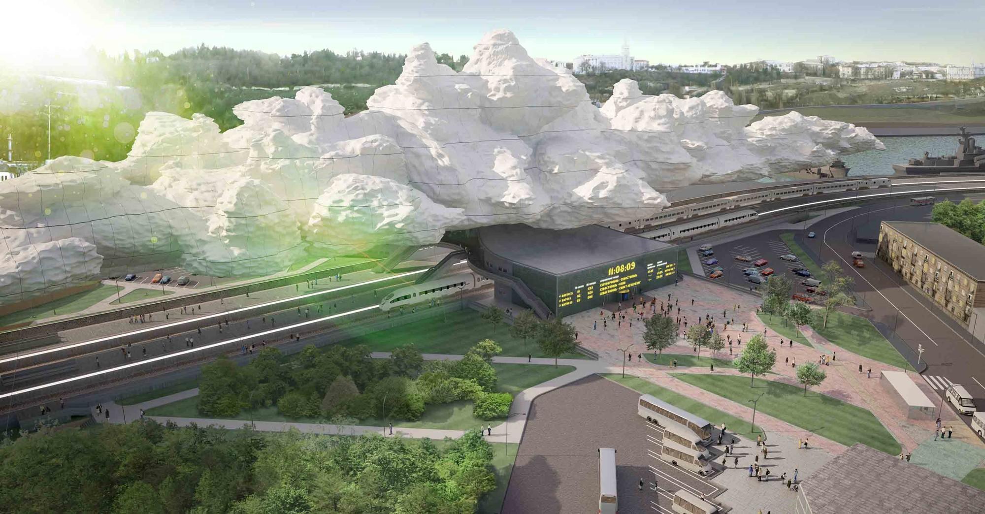 'Under the Cloud' Railway Station Proposal / Arthur Kupreychuk, Courtesy of Arthur Kupreychuk