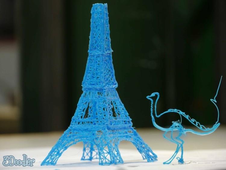 Caneta de impressão 3D torna croquis em realidade em segundos, Cortesia de 3Doodler Kickstarter Page