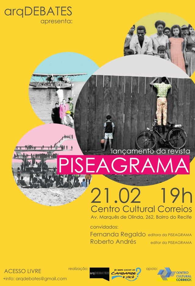 arqDEBATES: Lançamento da revista PISEAGRAMA / Recife - PE, Courtesy of arqDEBATES