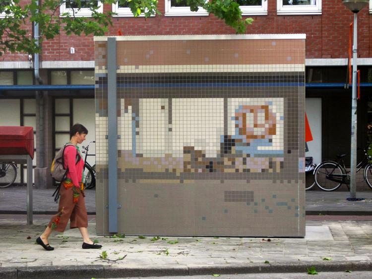 Arte e Arquitetura: Camuflagem Urbana por Roeland Otten, Air Quality Measuring Station (2012) © Roeland Otten