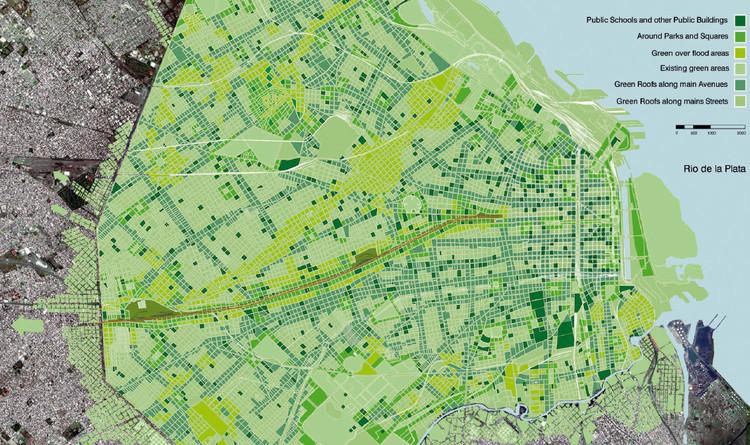 Verde Sobre Gris - Cubiertas Verdes para Buenos Aires / , © Unknown photographer