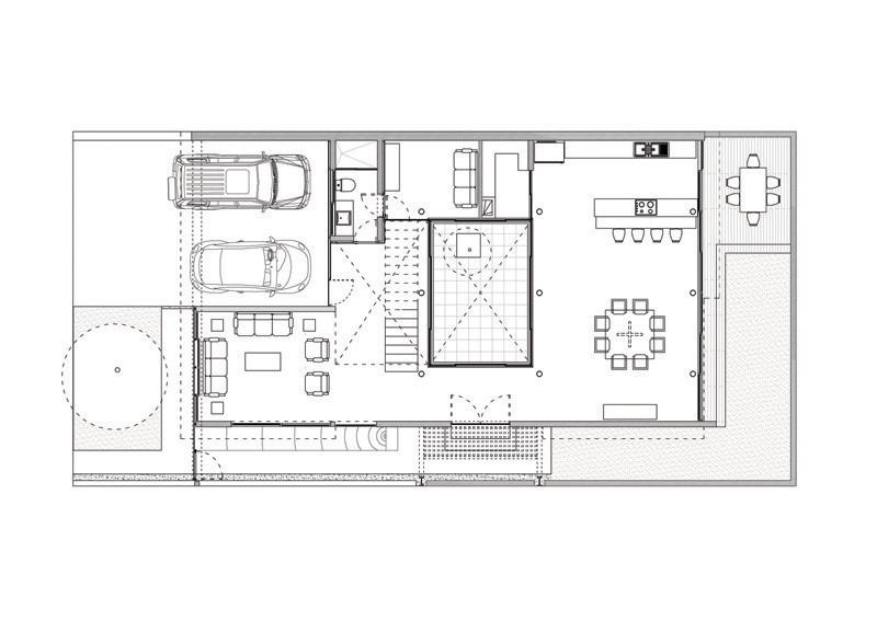 Galer a de casa con impluvium ars atelier de for Plantas arquitectonicas de casas