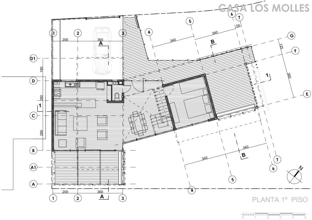 Casa los molles alfonso gomez raby jorge mora de la for Plantas de arquitectura