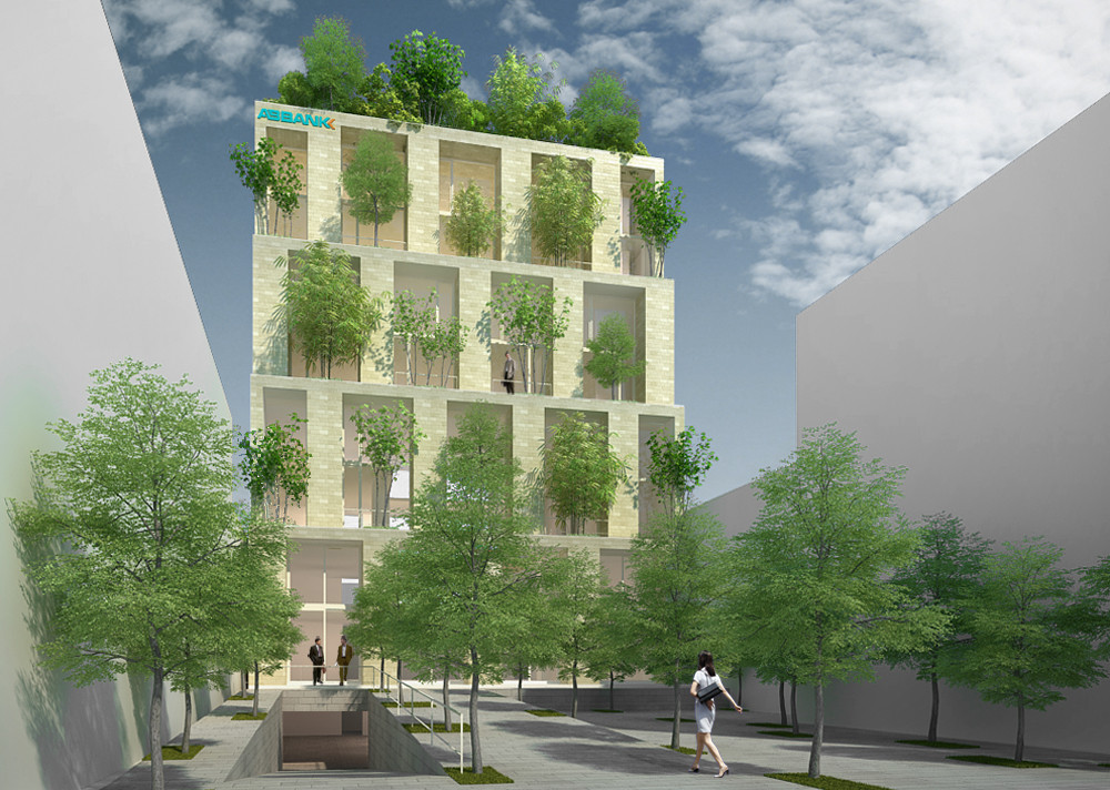 Trees Building for ABBANK Proposal / Vo Trong Nghia Architects, Courtesy of Vo Trong Nghia Architects