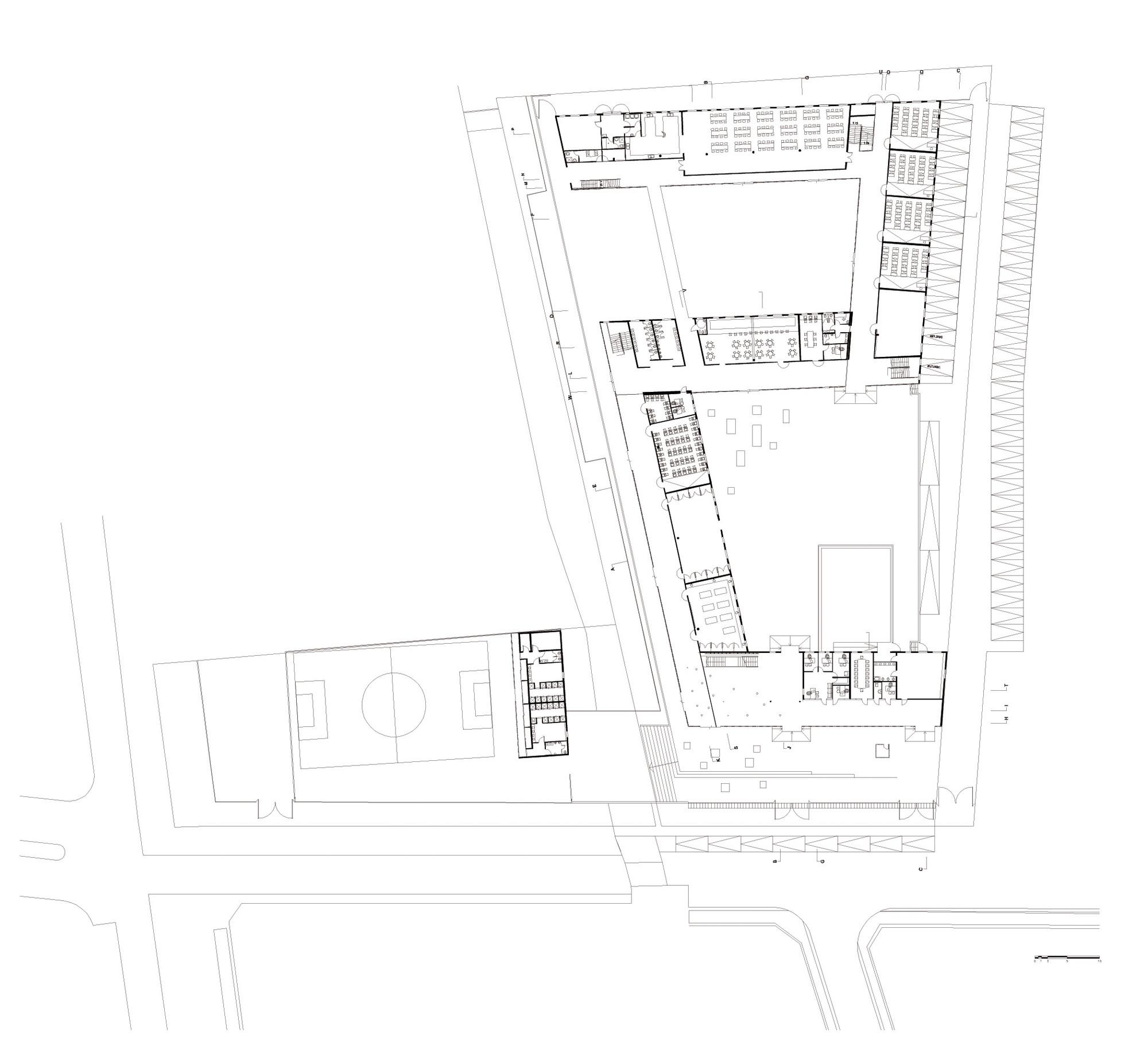 Gallery of san sebasti n school tidy arquitectos 18 for Plantas de colegios arquitectura